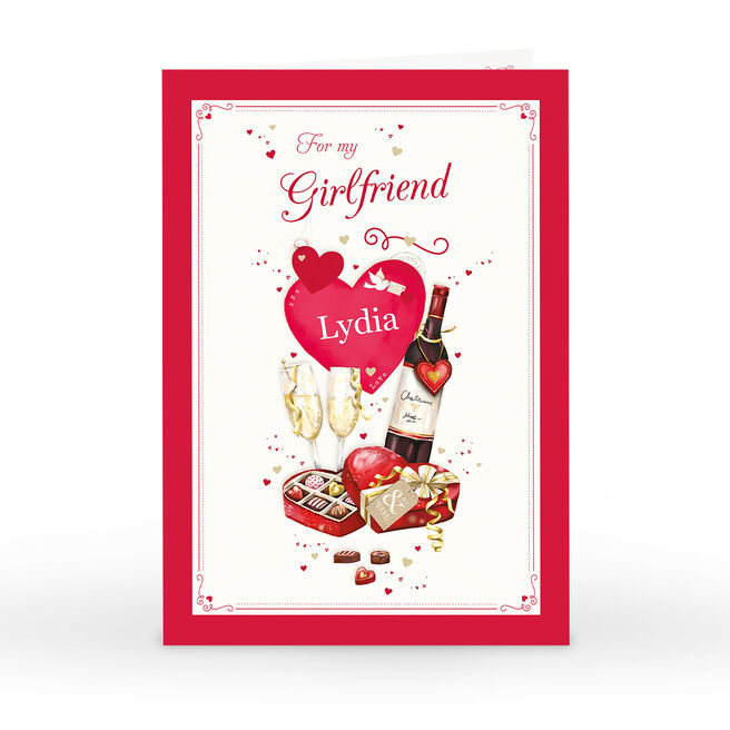 Personalised Card - Wine & Chocolates