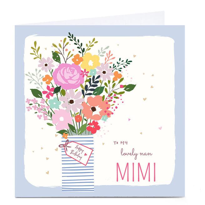 Personalised Nikki Upsher Birthday Card - Lovely Nan