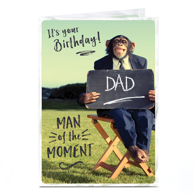 Personalised Birthday Card - Man of the Moment