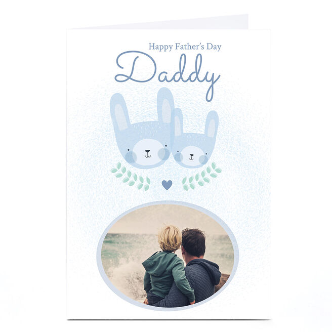 Photo Juniper & Rose Father's Day Card - Daddy Blue Bunnies