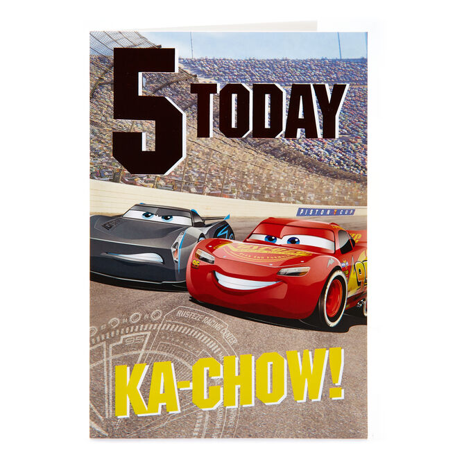 Cars 5th Birthday Card