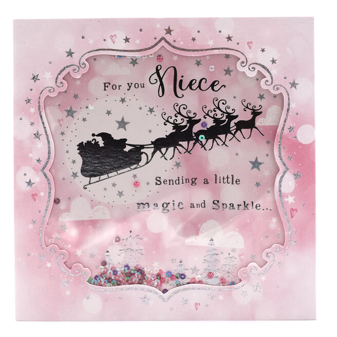 Boutique Collection Christmas Card - For You Niece