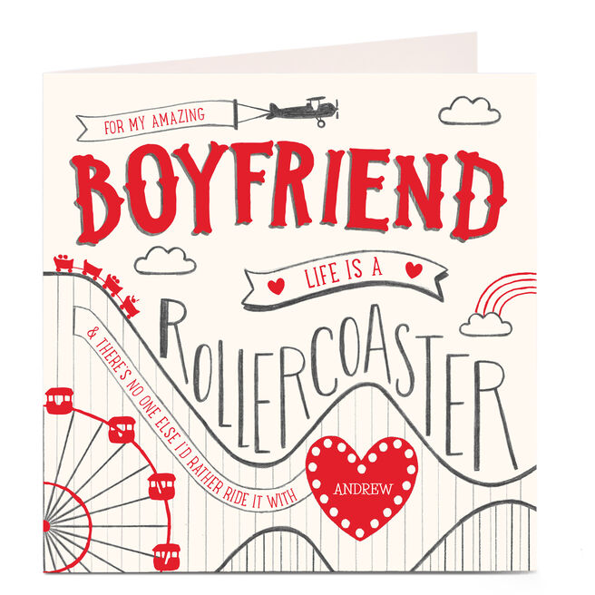 Personalised Card - Life Is A Rollercoaster