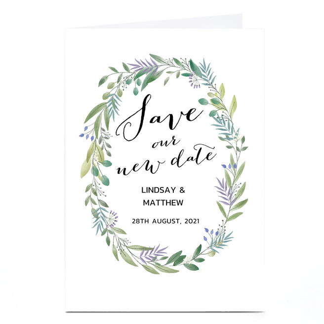 Personalised Wedding Invitation - Save Our New Date
