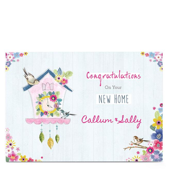 Personalised New Home Card - Cuckoo Clock