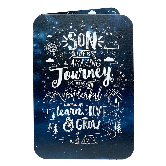 Birthday Card - Son, Amazing Journey
