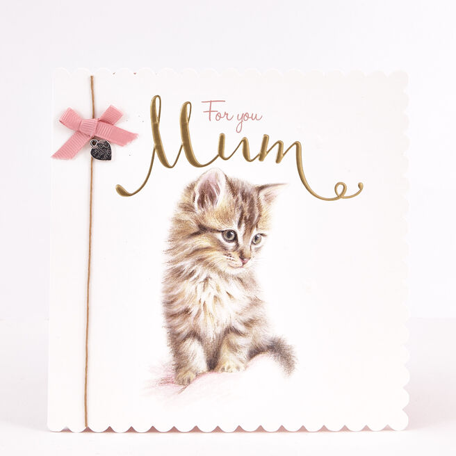 Boutique Collection Birthday Card - Mum Cat