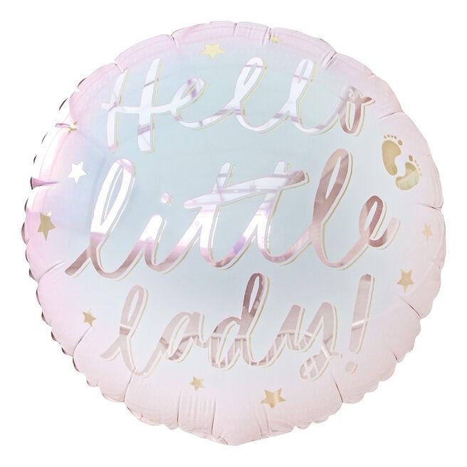 Hello Little Lady 18-Inch Foil Helium Balloon