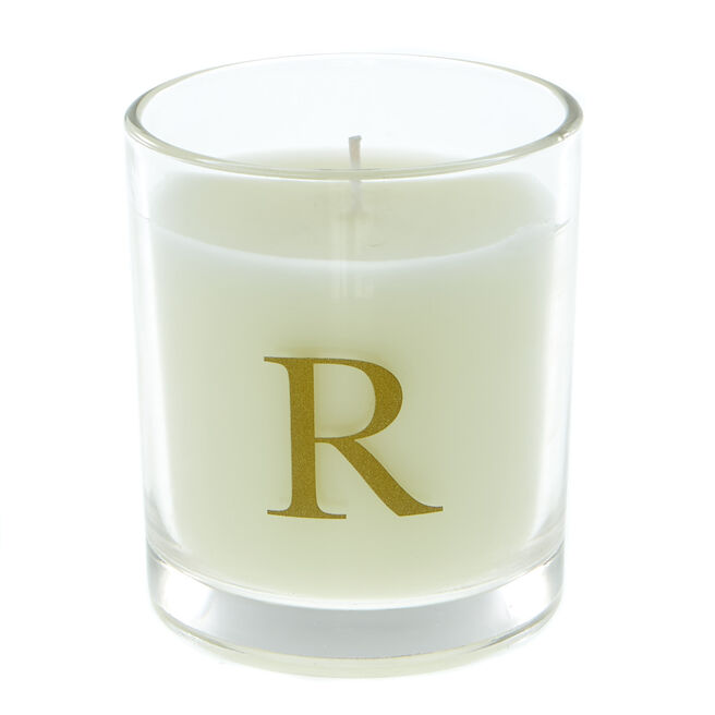 Letter R Warm Cashmere Scented Candle