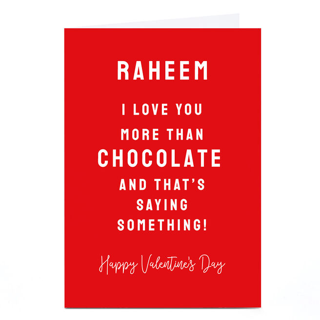 Personalised Valentine's Day Card - That's Saying Something!