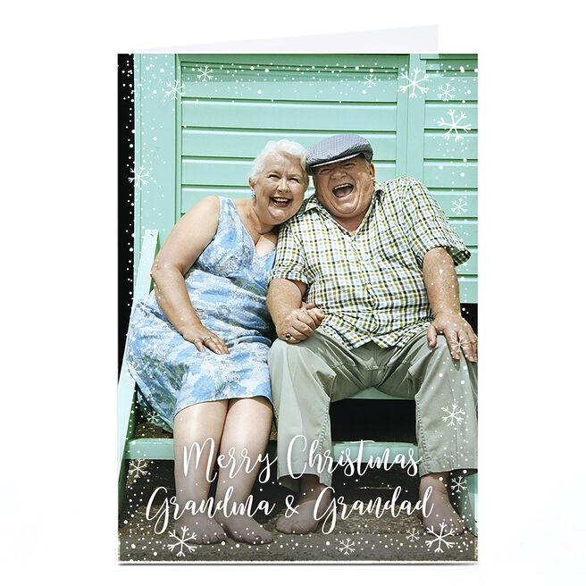 Photo Christmas Card - Grandma and Grandad