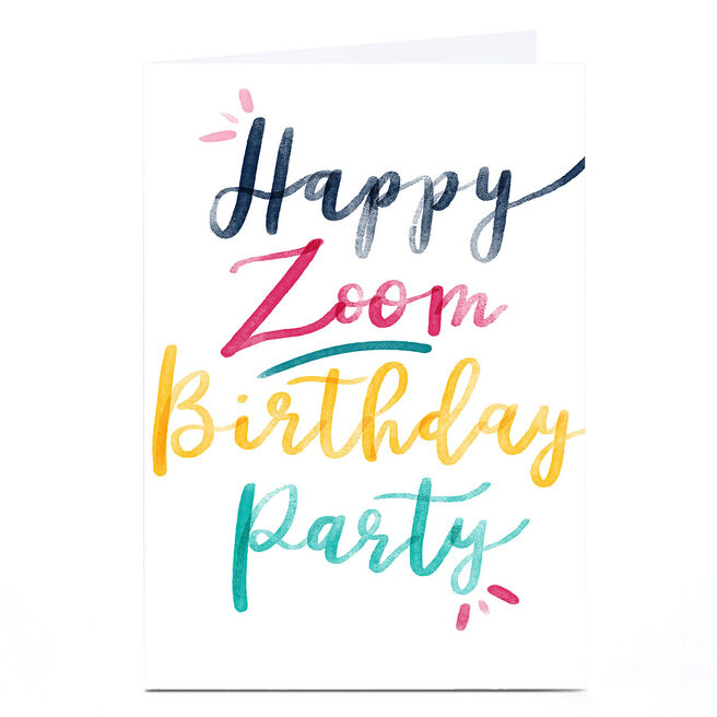 Personalised  Emma Valenghi Birthday Card - Zoom Party