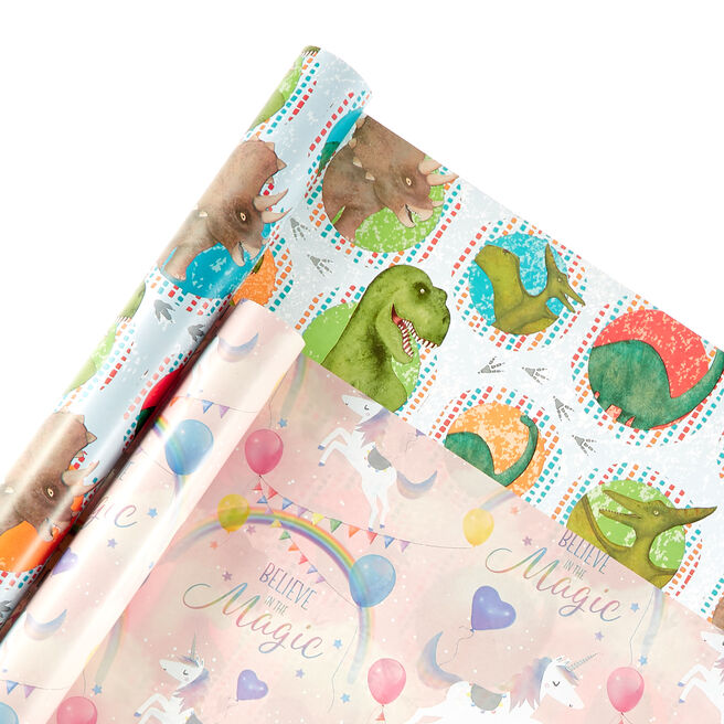 Children's Wrapping Paper - 4 Rolls