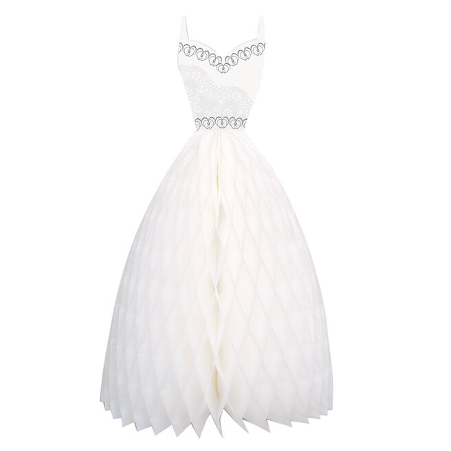 Honeycomb Wedding Dress Table Centrepiece