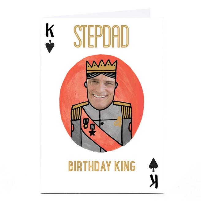 Photo Birthday Card - King Of Spades [Stepdad]
