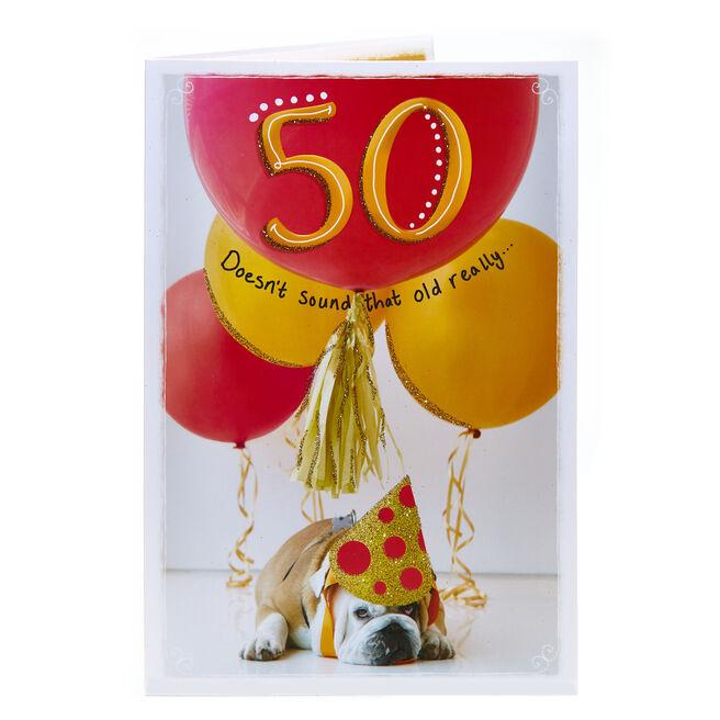 50th Birthday Card - Bulldog