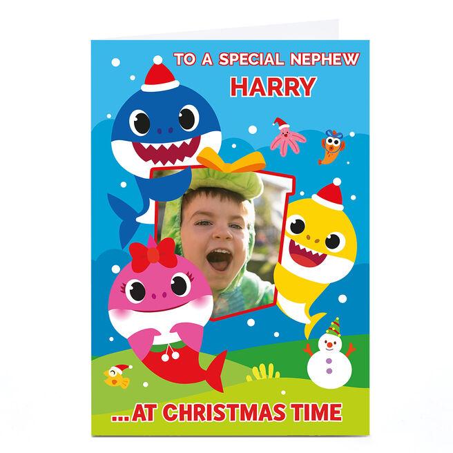 Photo Baby Shark Christmas Card - Nephew