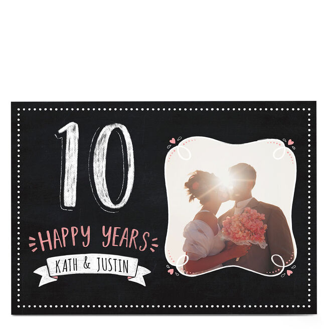Photo Anniversary Card - Happy Years