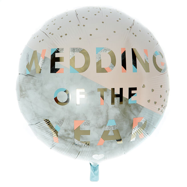 Wedding Of The Year 31-Inch Foil Helium Balloon