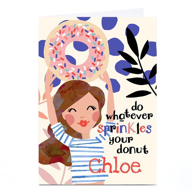 Personalised Bev Hopwood Card - Sprinkles Your Donut