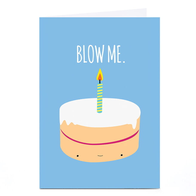 Personalised Jolly Awesome Birthday Card - Blow Me