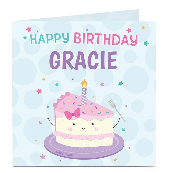 Personalised Birthday Card - Cake Time!