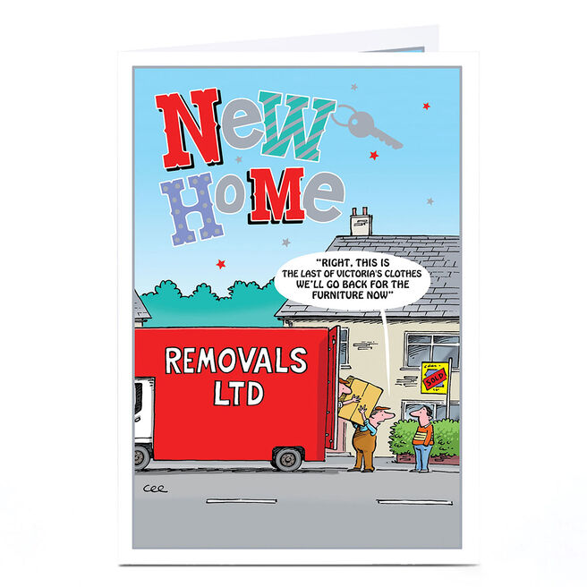 Personalised New Home Card - The Last Of The Clothes