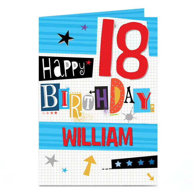 Personalised 18th Birthday Card - Cut & Paste