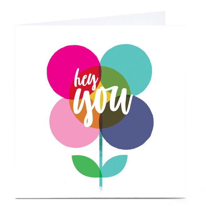Personalised Hello Munki Card - Hey You