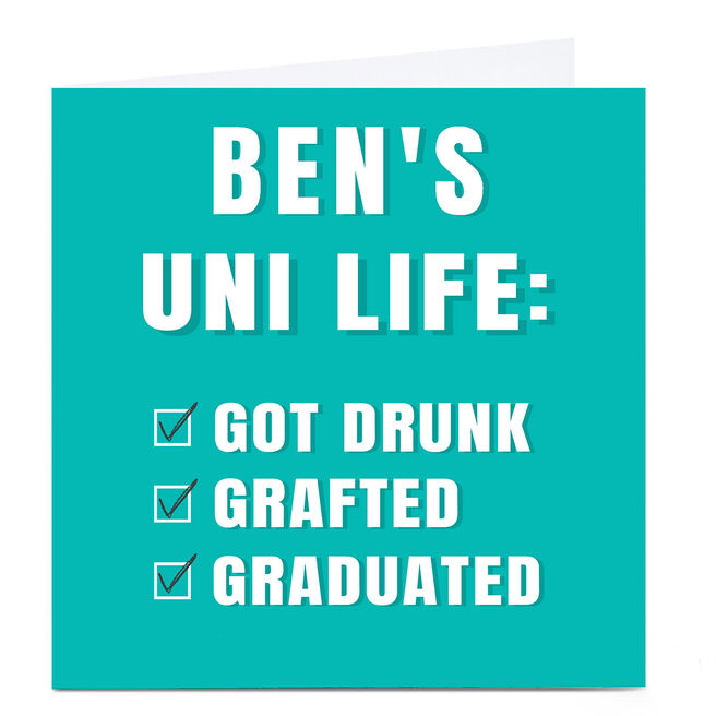 Personalised Card - Eday Uni Life