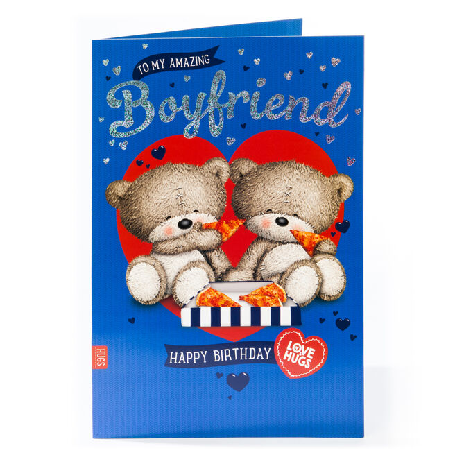 Giant Hugs Bear Birthday Card - Boyfriend
