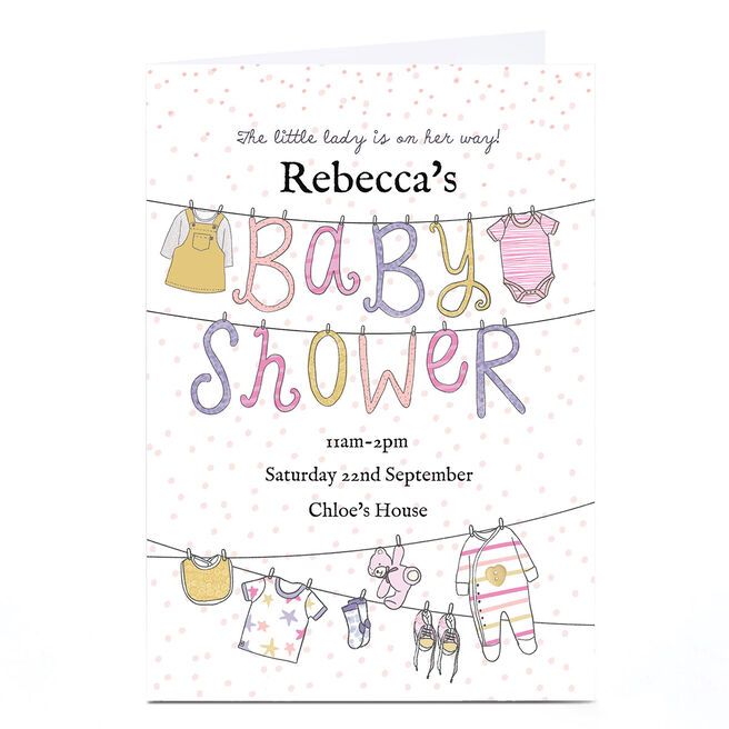Personalised Baby Shower Invitation - Little Lady