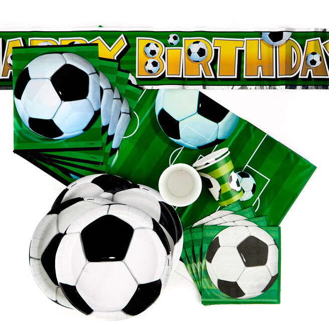 Football Birthday Party Tableware & Decoration Bundle - 82 Pieces