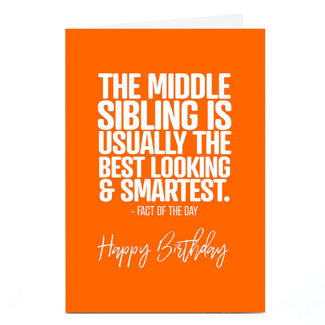 Personalised Punk Birthday Card - Middle Sibling