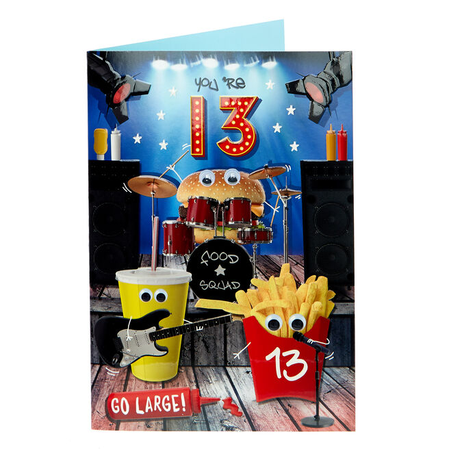 13th Birthday Card - Go Large!