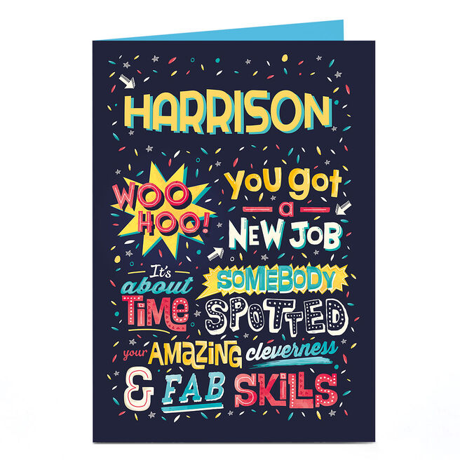 Personalised New Job Card - Fab Skills