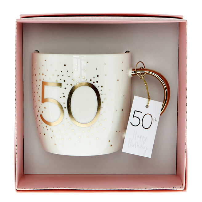 50th Birthday Mug In A Box - Happy Birthday To You
