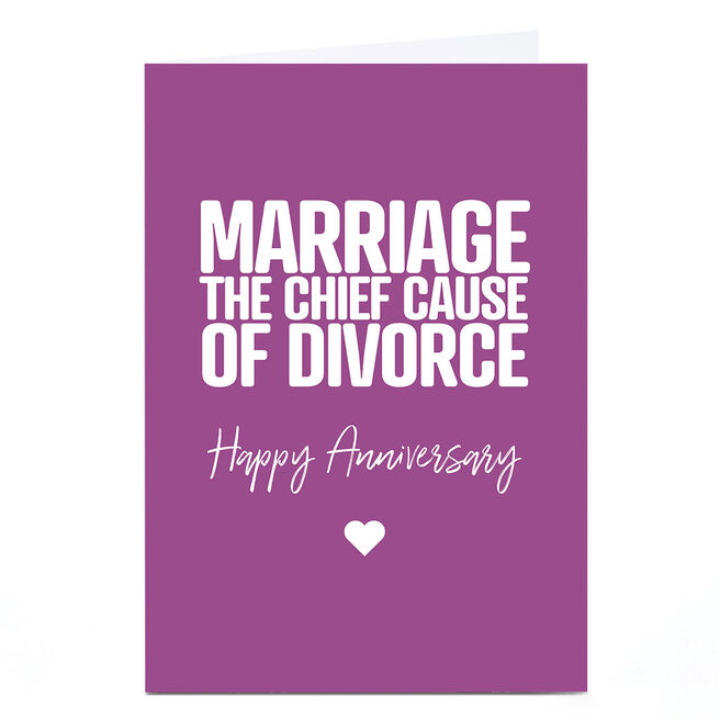 Personalised Punk Cards Anniversary Card - Cause of Divorce