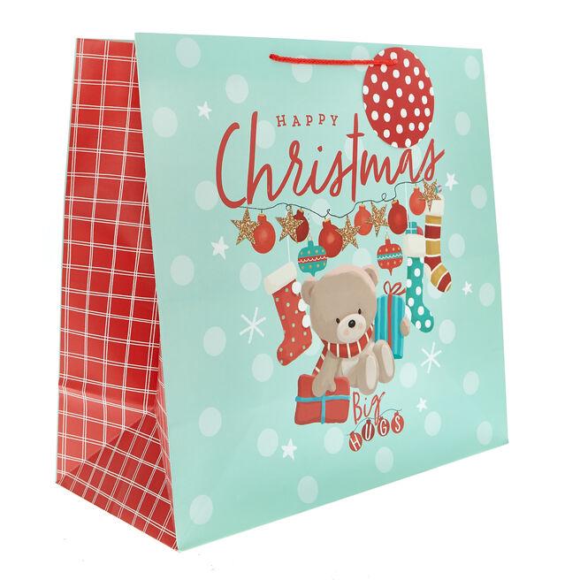 Giant Square Hugs Bear Christmas Gift Bag