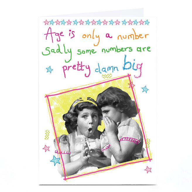 Personalised Quitting Hollywood Birthday Card - Only A Number