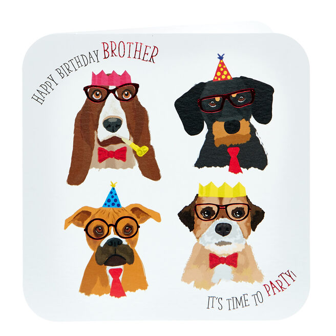 Birthday Card - Brother, Dogs