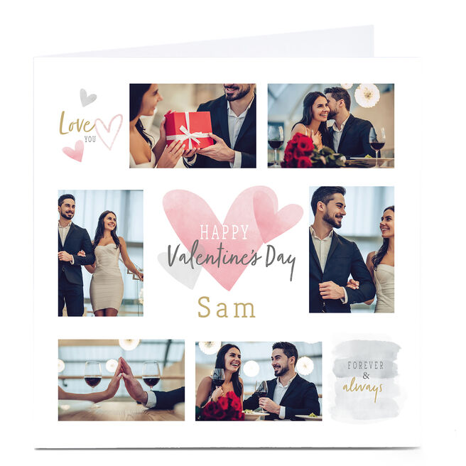 Personalised Photo Valentine's Card - Forever & Always