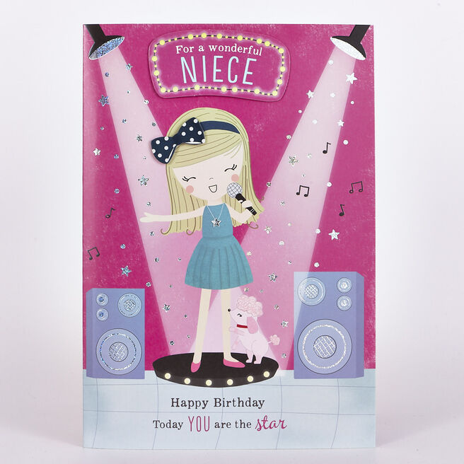 Signature Collection Birthday Card - Niece Singing