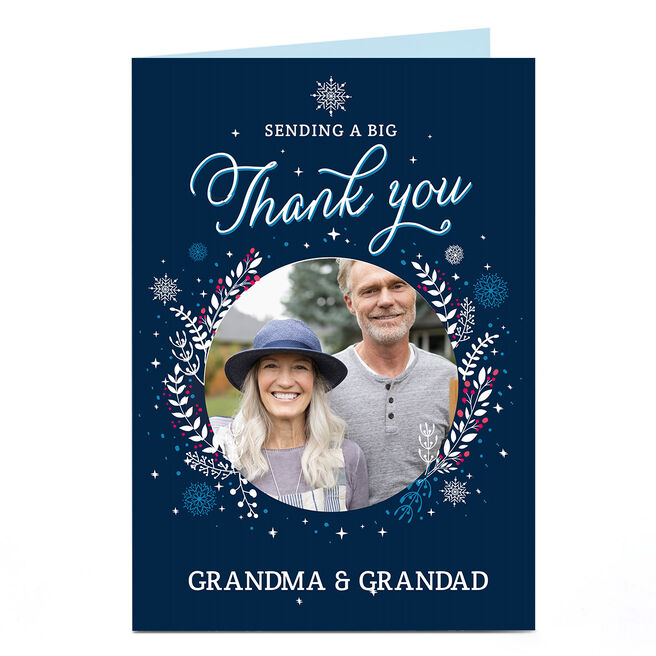 Photo Christmas Card - Sending A Big Thank You