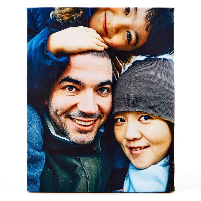 Personalised Photo Canvas - 8 x 10 Inches (Portrait)