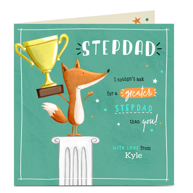 Personalised Father's Day Card - Couldn't Ask For A Greater Stepdad
