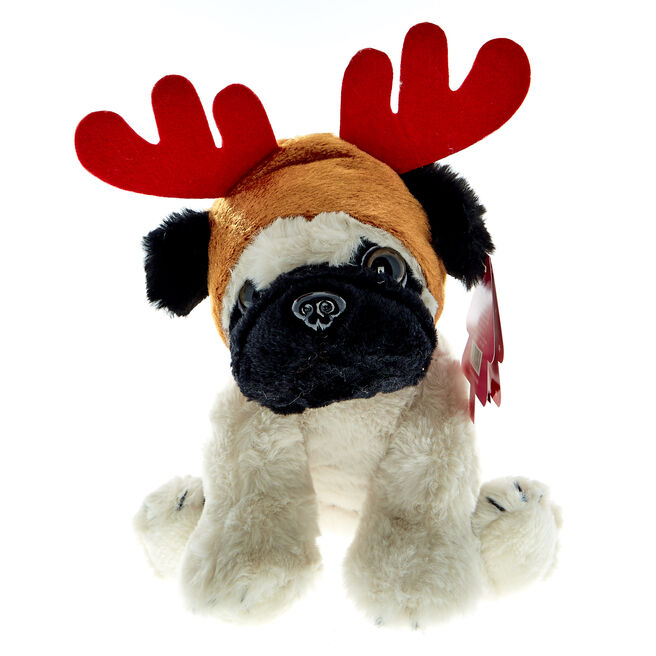 Reindeer Pug Soft Toy