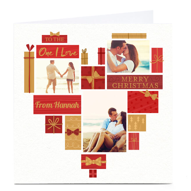 Photo Christmas Card - To The One I Love, Presents & Heart