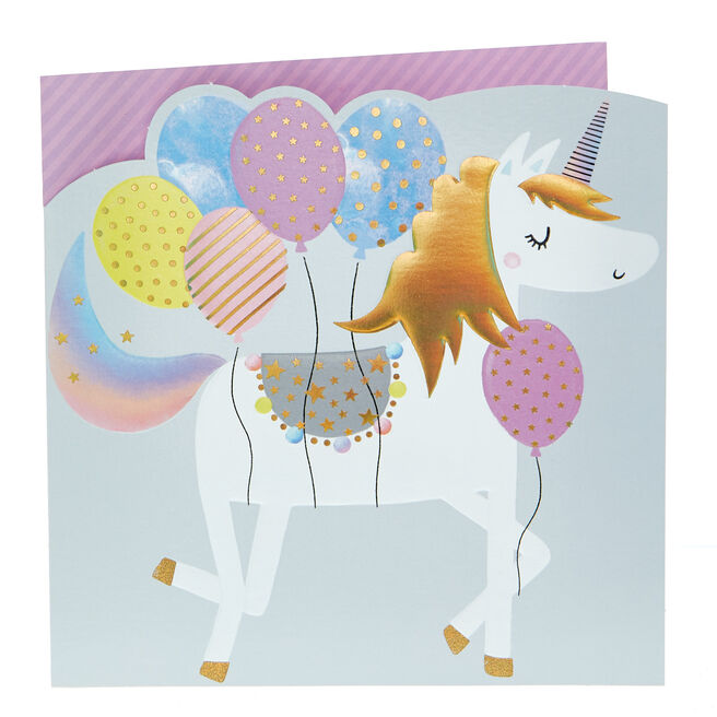 Any Occasion Card - Balloons & Unicorn