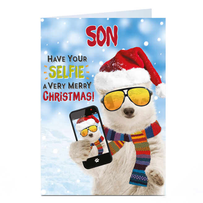 Personalised Christmas Card - Have Your Selfie A Merry Christmas - Son